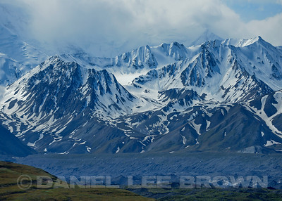 Scene from the Denali Park Road, Denali Alaska, 6-22-14. Cropped image.
